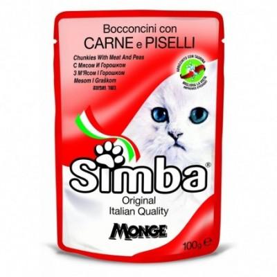 Kačių konservai Simba, su vištiena ir kepenimis 100g 100g