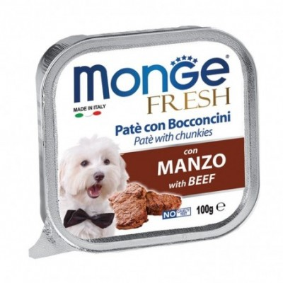 Gemon visavertis konservuotas paštetas su Vištienos gabaliukais, visų veislių suaugusiems šunims 150g
